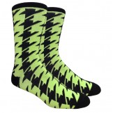 Mint Neon Green Hounds Tooth Cotton..