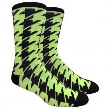Mint Neon Green Hounds Tooth Cotton Dress Socks