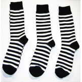 Black and White Striped Cotton Dres..