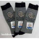 Popeye crew dress socks men's