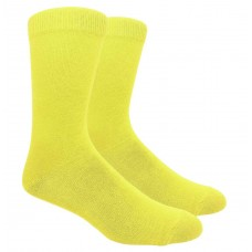 True Yellow Men's Cotton Dress Socks