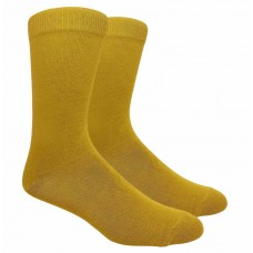 Mustard Yellow Men's Cotton Dress Socks