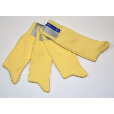 6 Yellow woven cotton dress socks size 8-12 Men's