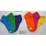 6 Pack cotton colorful trainer ankl..