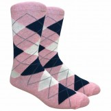 Heather Pink Cotton Argyle Dress So..