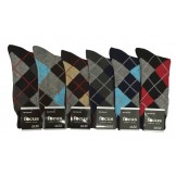 6 Pairs Assorted Cotton Argyle Dres..