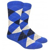 Royal Blue Cotton Navy Argyle socks..