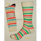 Striped stone washed men's socks by..