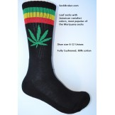Black with red and green striped ma..
