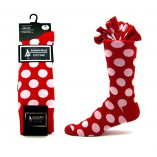 Ricci couture premium red with white cotton polka-dot dress socks