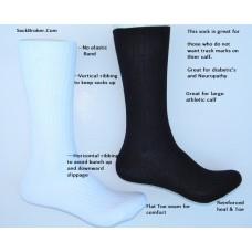 Premium non elastic mercerized cotton comfort top dress socks By Origins
