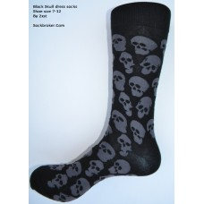 2xist Multi black and charcoal skull men's casual dress socks