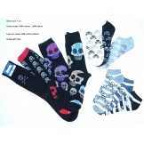 10 of Men's skull gothic dress sock..