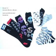 10 of Men's skull gothic dress sock package