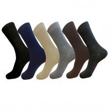 12 pr  Small feet assorted cotton ribbed dress socks-Men's