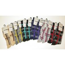 12 pack Men's Small Size 5-8 Cotton Plaid Dress Socks