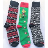 3 Pairs Cotton Christmas socks Size..