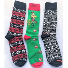 3 Pairs Cotton Christmas socks Size 8-12