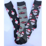 3 Pairs Cotton Christmas socks Sant..