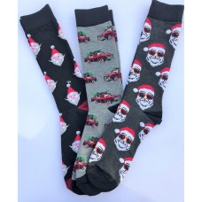 3 Pairs Cotton Christmas socks Santa Classic Truck Size 8-12