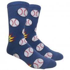 Novelty Baseball Crew Socks
