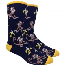 Funny Monkey and Banana Novelty Cotton Socks Size 6-12