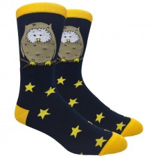 Novelty Wise Owl Cotton Socks Size 6-12
