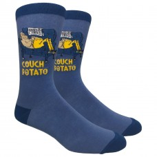 Couch Potato Cotton Crew Socks Size 6-12