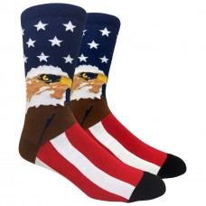 Novelty Patriotic American Eagle Flag Socks