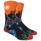 Novelty Route 66 American West Sock..