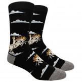 Novelty Man On Unicorn Socks