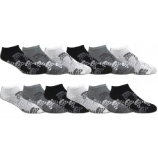 6 pairs of  men's gothic skull low cut no show socks