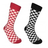Cotton Checkered Dress Socks