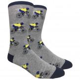 Novelty Bicycle Racing Socks Gray