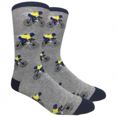 Novelty Bicycle Racing Socks Gray