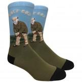 Novelty Golf God Cotton Socks