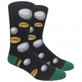 Novelty Black Golf Socks (FORE!)