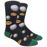 Novelty Black Golf Socks (FORE!)