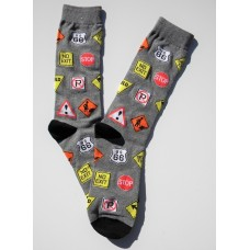 Off Novelty Constructions Street Sign Socks