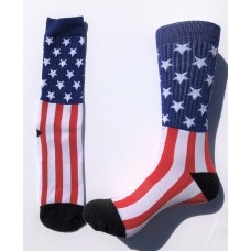 Men's Arch Support American Flag Cotton Crew Socks