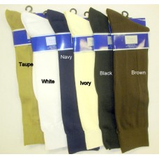 Premium soft classic microfiber nylon formal dress socks