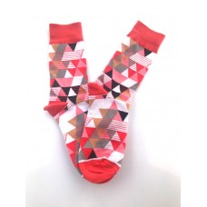 Pyramid triangle combed cotton dress socks size 8-12