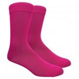 Fuchsia Cotton Dress Socks Size 8-1..