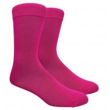 Fuchsia Cotton Dress Socks Size 8-12