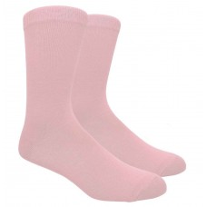 Cotton Light Baby Pink Dress Socks-Men