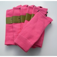 6 Pack Groomsmen Hot pink cotton dress socks-Men's