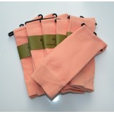 6 Peach Groomsmen Cotton Dress Sock..