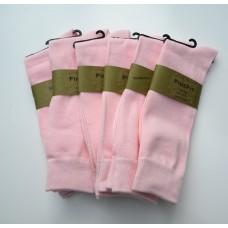 6 Pair Groomsmen Cotton Baby Pink Dress Socks