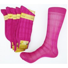 Dark raspberry textured rayon formal dress socks by Origins size 8-12