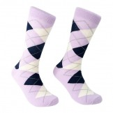 Lavender / Lilac Cotton Argyle Sock..